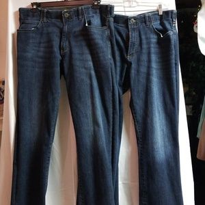 96117acb Lee Jeans | 2 Pair Extreme Motion Straight Fit Tapered Leg | Poshmark